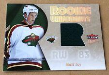 2006 Fleer Ultra Hockey Matt Foy Jersey Card