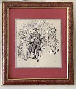Victor Noble Rainbird - Pencil, Pen and Ink Sketch
