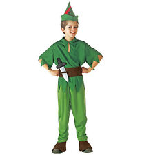 Childs Peter Pan Fancy Dress Costume Never Land Book Week Outfit Boys Age 8 9 10