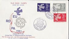 EU32) Turkey 1961 - Europa Stamps On First Day Cover