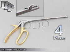 4 Pieces Baby TISCHLER Biopsy Forceps Gynecology Surgical Instruments