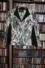 Lafayette 148 New York NY  Black White Green pattern Blazer Jacket Ladies 6(b165