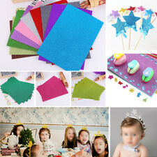 10*Glitter EVA Foam Paper Sheet Sponge Arts Crafts Childs Kids DIY Supplies Kit