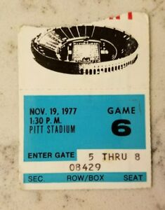 Pittsburgh Panthers Penn State Lions Football Ticket Stub 11/19 1977 Student