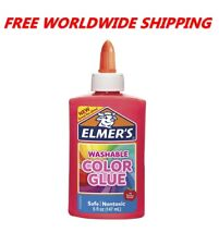 Elmer's Washable Color Glue Pink Great for Slime 5 Fl Oz FREE WORLDWIDE SHIPPING
