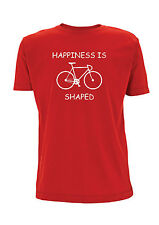 Happiness Is Bike Shaped Cycling T Shirt Racer Road Track Cyclist Tshirt Roadie