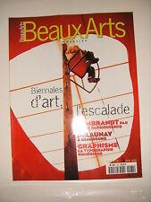 Beaux Arts Magazine N°181 Biennales d'art Rembrandt Delaunay Typographie Frize