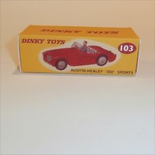 Dinky Toys 103 Austin Healey Sprite Red empty Reproduction box