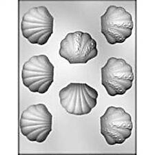 Clam Shell  Fancy Chocolate Mold Ocean Luau Mermaid Sea