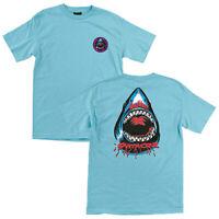Santa Cruz Speed Wheels Shark T Shirt Blue Skateboard New Size L XL XXL 2XL