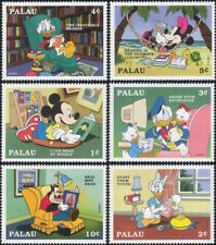 Palau 1997 Disney/Literacy Campaign/Books/Mickey/Donald/Cartoons 6v set (s437s)
