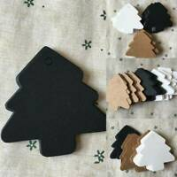 50pcs Christmas Kraft Paper Gift Tags Price Label Scallop XMAS Luggage Blank new