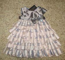 Isobella & Chloe Baby Girls Pink / Gray Dress - Size 24 Months - NWT