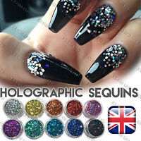 1mm HOLOGRAOHIC GLITTER FLAKES Sequins Paillette Sparkly Nail Art Hexagon 3D DIY
