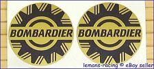 "GOLD Sea Ski Doo Bombardier Vinyl Decals Stickers Emblems BRP x2 pieces 2, 4, 5"""