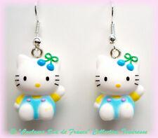 Bijou Enfant Ado Boucles d'oreilles Hello Kitty bleue
