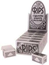 Rips Rolling Paper - Black Xtra Thin Regular  24 Packs
