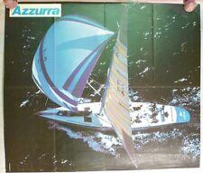 Poster AZZURRA biblioteca del mare MURSIA Barca a vela - aaa
