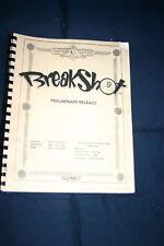 Capcom Breakshot pinball machine manual (#Man164)