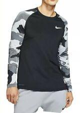 Nike Pro Long-Sleeve Top Men's Camo Training Size Large Black/White