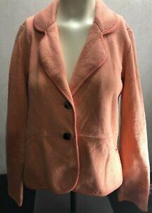 Pendleton Womens Blazer Jacket Pink  Size medium Petite cotton