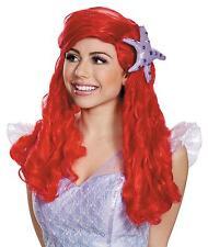 Disney Ariel The Little Mermaid Red Wig Costume Licensed Cosplay Adult Womens