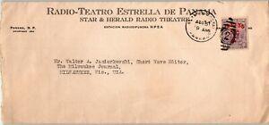 Panama Postal History: LOT #2 c1938 8c Radio Theatre PANAMA - MILWAUKEE $$$