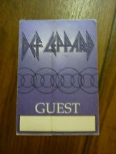Def Leppard Guest Euphoria Tour 1999 2001 Backstage Concert Pass
