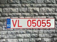Romania Provisional License Plate Euro Stars Valcea County #9