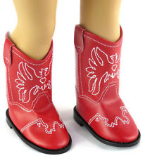 Red w/Eagle Accent Cowboy Boot Shoes for 18 inch American Girl Doll Clothes