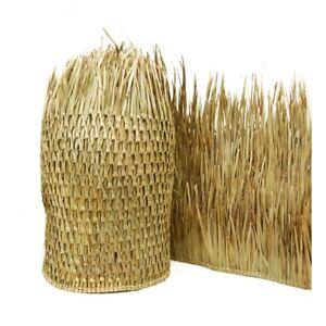 "Tiki Hut Palm Leaves Runner Thatch Grass Roll Palapa Bar Roofing Luau, 35"" x 96"""