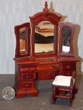 Dollhouse Miniature Bedroom Dresser Mirror Vanity 1:12 scale Y30 Dollys Gallery
