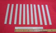 12 pcs. *Glossy White* Ceramic Pencil- Liner - Sizzle Tiles; 1/2