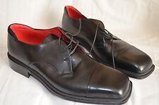 Fratelli BORGIOLI -Italy Elegant Handmade Black Oxford Shoes UK 12 EU 46 US 13