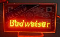 Vintage 1993 Ice Cold Budweiser Beer Neon Bar / Window Advertising Sign