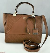 Nuevo Bolso GUESS Cammie Satchel Mujer Cognag neuf