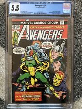 AVENGERS #135 CGC 5.5 OW / WHITE PAGES MARVEL ULTRON / VISION BRONZE AGE COMIC