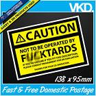 Caution Sign Sticker/ Decal - Work Boss Machine Equipment Beer Management Funny