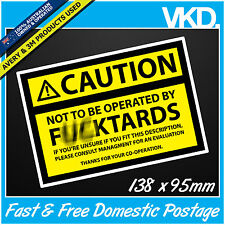 Caution Sign Sticker/ Decal - Work Boss Machine Equipment Beer Management Funny