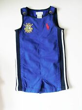 Polo Ralph Lauren Baby Boys Rugby Sleeveless Shortall Sapphire Star Sz 18M - NWT