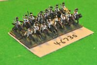 15mm napoleonic / saxon - cuirassiers (as photo) 16 figs - cav (46730)