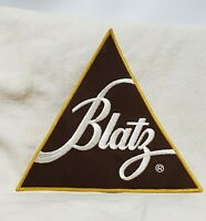 """Vintage Blatz Beer Patch Large 9"""" x 9 1/4"""" x 9 1/4"""" RARE Unused FREE SHIPPING"""