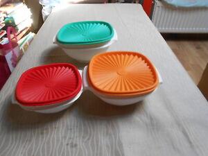 Tupperware - 3 Schüsseln mit Deckel in verschiedenen Größen - Sonnendeckel