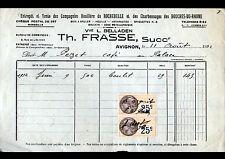 "AVIGNON (84) HOUILLERE de ROCHEBELLE ""Vve L. BELLADEN / T. FRASSE"" en 1932"