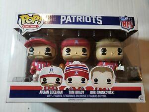 Funko Pop Patriots 3 Pack, Brady, Edelman, Gronkowski