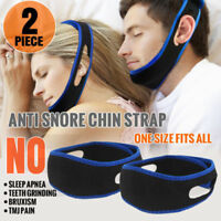 2 x Stop Snoring Chin Strap Anti Snore Sleep Apnea Belt Device Solutions Jaw USA