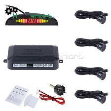 Black LED Display Car 4 Parking Sensor Reverse Backup Radar Alarm System Kit AHS