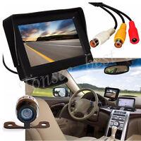 4.3'' LCD Car Rear View Backup Monitor   Parking Night Vision Camera Waterproof