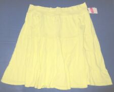 FRESH PRODUCE Extra Large Solaire Lemon Yellow $49 Tiered Jersey Skirt NWT New