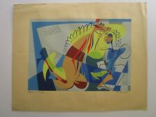 JAMES MCCONNEL CUBISM MASTERPIECE ABSTRACT SERIGRAPH MID CENTURY MODERN VINTAGE